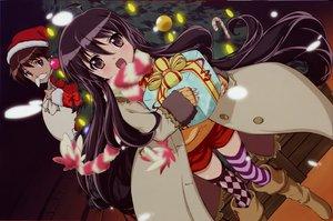 Rating: Safe Score: 11 Tags: christmas shakugan_no_shana shana thighhighs User: Oyashiro-sama