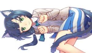 Rating: Safe Score: 192 Tags: animal_ears blue_hair catgirl green_eyes kibamigohann long_hair shirobako skirt tail tie yasuhara_ema User: Flandre93