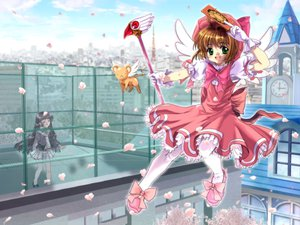 Rating: Safe Score: 6 Tags: card_captor_sakura cherry_blossoms kero kinomoto_sakura moonknives User: 秀悟