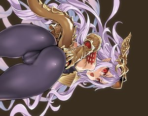 Rating: Questionable Score: 158 Tags: armor asanagi ass brown cameltoe elbow_gloves fang gloves granblue_fantasy long_hair medusa_(shingeki_no_bahamut) pointed_ears purple_hair red_eyes shingeki_no_bahamut skintight tail User: otaku_emmy