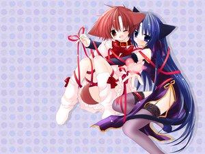 Rating: Safe Score: 15 Tags: animal_ears catgirl collar doggirl hinata_(pure_pure) pure_pure ribbons sakurazawa_izumi tobari User: Oyashiro-sama