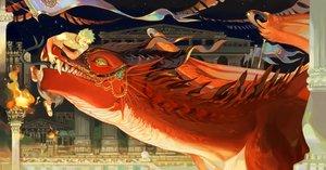 Rating: Safe Score: 23 Tags: all_male bakugou_katsuki blonde_hair boku_no_hero_academia building dragon fire kirishima_eijirou male night short_hair stars taro-k topless User: mattiasc02