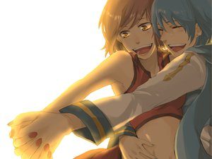 Rating: Safe Score: 15 Tags: hug kaito male meiko vocaloid User: w7382001