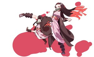 Rating: Safe Score: 65 Tags: black_eyes brown_hair gag japanese_clothes kamado_nezuko kimetsu_no_yaiba kimono loli long_hair lsw_(dltjddnja) pink_eyes User: RyuZU