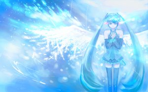 Rating: Safe Score: 12 Tags: hatsune_miku twintails vocaloid wings User: HawthorneKitty