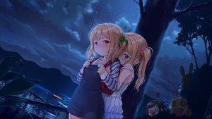 Rating: Safe Score: 107 Tags: black_hair blonde_hair blush building city clouds dress green_eyes group heart ifnil loli long_hair original ponytail red_eyes robot short_hair shoujo_ai signed sky stars tree twintails User: gnarf1975