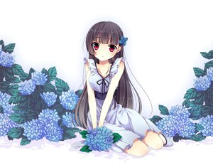 Rating: Safe Score: 108 Tags: black_hair dress flowers long_hair red_eyes sanka_rea sankarea User: C4R10Z123GT
