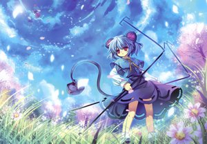 Rating: Safe Score: 139 Tags: animal animal_ears capura_lin eternal_phantasia gray_hair hakurei_reimu japanese_clothes miko mouse mousegirl nazrin red_eyes scan short_hair sky tail touhou weapon User: FormX