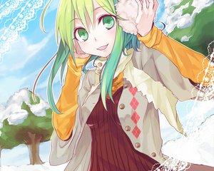 Rating: Safe Score: 31 Tags: green_eyes green_hair gumi snow vocaloid User: HawthorneKitty