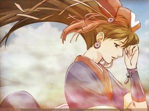 Rating: Safe Score: 18 Tags: brown_hair hat japanese_clothes kirara_(samurai_7) long_hair pink_eyes samurai_7 tagme_(artist) tears watermark wristwear User: N1