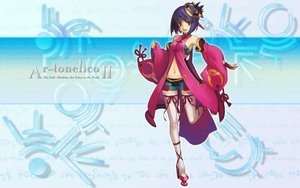 Rating: Safe Score: 33 Tags: ar_tonelico ar_tonelico_ii blue_hair luca_trulyworth nagi_ryou thighhighs User: 秀悟