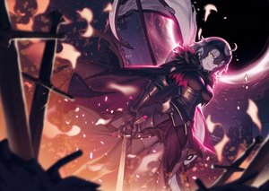 Rating: Safe Score: 56 Tags: armor breasts cape dress fate/grand_order fate_(series) gray_hair headdress jeanne_d'arc_alter jeanne_d'arc_(fate) lim_jaejin short_hair sword thighhighs weapon yellow_eyes User: otaku_emmy