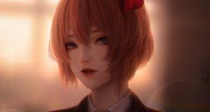 Rating: Safe Score: 113 Tags: alqmia blue_eyes close doki_doki_literature_club! orange_hair realistic sayori_(ddlc) short_hair watermark User: otaku_emmy