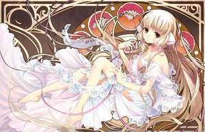 Rating: Safe Score: 58 Tags: barefoot blonde_hair chii chobits dress long_hair User: opai