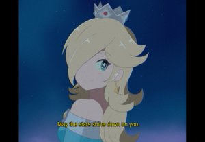 Rating: Safe Score: 40 Tags: aqua_eyes blonde_hair chocomiru close crown long_hair night rosalina sky stars super_mario_bros User: otaku_emmy