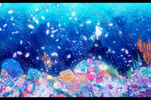 Rating: Safe Score: 55 Tags: deep-sea_girl_(vocaloid) hatsune_miku petals underwater vocaloid water User: FormX