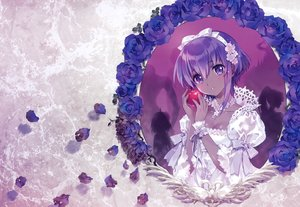 Rating: Safe Score: 73 Tags: apple assassin bow breasts carnelian cleavage dark_skin fate/grand_order fate_(series) flowers food fruit hassan_of_serenity headband king_hassan lolita_fashion petals purple_eyes purple_hair ribbons rose scan short_hair silhouette true_assassin User: otaku_emmy
