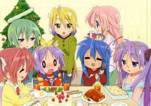 Rating: Safe Score: 31 Tags: christmas food hiiragi_kagami hiiragi_tsukasa iwasaki_minami izumi_konata kobayakawa_yutaka lucky_star scan takara_miyuki User: Xtea