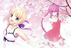 Rating: Safe Score: 94 Tags: 2girls blonde_hair dress fate/stay_night green_eyes long_hair melty_blood petals purple_eyes purple_hair ribbons saber shingetsutan_tsukihime sion_eltnam_atlasia takeuchi_takashi thighhighs type-moon User: Maboroshi