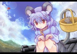 Rating: Safe Score: 38 Tags: animal animal_ears blue_hair clouds long_hair mouse mousegirl nazrin qontamblue red_eyes sky tail touhou unzan User: HawthorneKitty