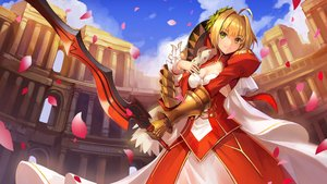 Rating: Safe Score: 141 Tags: armor blonde_hair breasts building cleavage fate/extra fate/grand_order fate_(series) fate/stay_night nero_claudius_(fate) petals sword weapon yuki_(clydtc) User: Flandre93