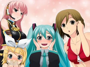 Rating: Safe Score: 41 Tags: hatsune_miku kagamine_rin megurine_luka meiko vocaloid User: HawthorneKitty