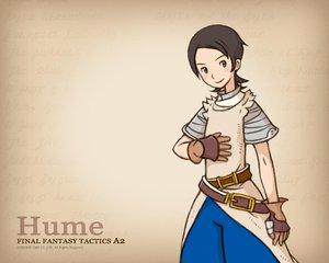 Rating: Safe Score: 3 Tags: armor blush brown_eyes brown_hair final_fantasy final_fantasy_tactics_a2 gloves hume male short_hair watermark User: Oyashiro-sama