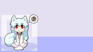 Rating: Safe Score: 61 Tags: animal_ears blush chibi collar foxgirl kisumi mesou-san red_eyes tail third-party_edit white_hair User: kisumi