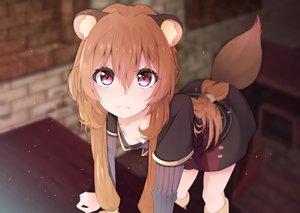 Rating: Safe Score: 237 Tags: animal_ears boots breasts brown_hair long_hair murata_ryou no_bra pink_eyes raphtalia tail tate_no_yuusha_no_nariagari User: RyuZU