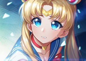 Rating: Safe Score: 36 Tags: aqua_eyes blonde_hair blush choker close headband long_hair parody sailor_moon sailor_moon_(character) school_uniform the_cold tsukino_usagi twintails User: sadodere-chan