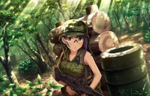 Rating: Safe Score: 57 Tags: annin_doufu breast_hold breasts forest goggles green_eyes gun idolmaster idolmaster_cinderella_girls idolmaster_cinderella_girls_starlight_stage military purple_hair short_hair tagme_(character) tree weapon User: luckyluna