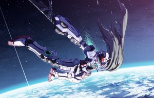Rating: Safe Score: 98 Tags: daizo earth exia mecha mobile_suit_gundam mobile_suit_gundam_00 space User: FormX