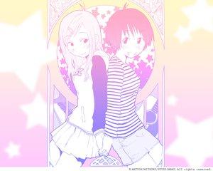 Rating: Safe Score: 7 Tags: 2girls concerto fukagawa_ino hattori_mitsuru monochrome oosawa_hitomi skirt watermark User: Oyashiro-sama
