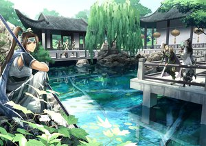 Rating: Safe Score: 108 Tags: 00111 all_male armor brown_eyes brown_hair jiang_wei liu_bel liu_shan male reflection shin_sangoku_musou tree water weapon xing_cai zhao_yun zhuge_liang User: STORM