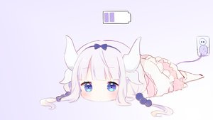 Rating: Safe Score: 129 Tags: aqua_eyes gradient horns kamui_kanna kobayashi-san_chi_no_maid_dragon loli long_hair ongyageum photoshop purple_hair tail thighhighs twintails User: SciFi