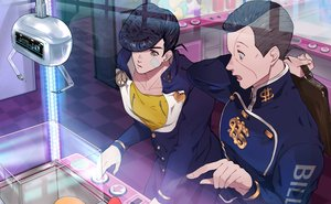 Rating: Safe Score: 17 Tags: all_male bandage black_hair higashikata_josuke jojo_no_kimyou_na_bouken male nijimura_okuyasu reflection sato_minato school_uniform short_hair User: otaku_emmy