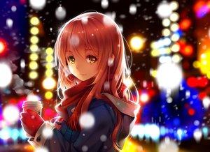 Rating: Safe Score: 328 Tags: bicolored_eyes drink gloves niya original pink_hair scarf snow tidsean winter User: FormX