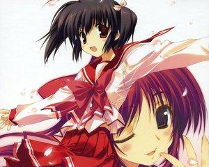 Rating: Safe Score: 11 Tags: amaduyu_tatsuki aquaplus kousaka_tamaki leaf mitsumi_misato to_heart to_heart_2 yuzuhara_konomi User: Oyashiro-sama