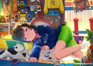 Rating: Safe Score: 61 Tags: animal bed bike_shorts game_console liclac loli original shorts watermark User: gnarf1975