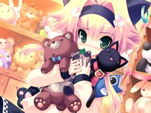 Rating: Safe Score: 82 Tags: animal animal_ears bear blonde_hair blush cat game_cg green_eyes loli prim_rina_oaklane primary_~magical_trouble_scramble~ tsurugi_hagane User: Wiresetc