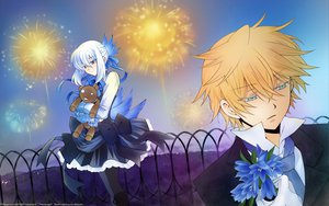 Rating: Safe Score: 13 Tags: blonde_hair blue_hair doll dress echo fireworks flowers oz_vessalius pandora_hearts ribbons signed User: Maboroshi