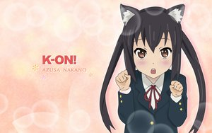 Rating: Safe Score: 28 Tags: animal_ears catgirl k-on! nakano_azusa school_uniform third-party_edit twintails User: rargy