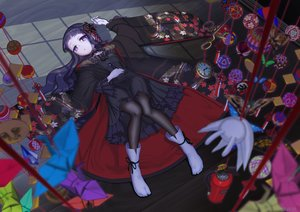 Rating: Safe Score: 32 Tags: black_hair dark gothic goth-loli hardgore_alice hatoda_ako hayanye japanese_clothes kimono lolita_fashion long_hair mahou_shoujo_ikusei_keikaku pantyhose paper purple_eyes signed socks User: otaku_emmy