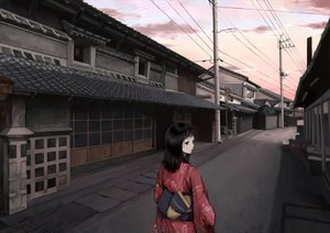 Rating: Safe Score: 43 Tags: black_hair building city japanese_clothes polychromatic scenic sky User: rodri1711