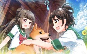 Rating: Safe Score: 24 Tags: 2girls animal battle_girl_high_school dog fujimiya_sakura minami_hinata school_uniform tamanegi_(12030028) User: mattiasc02