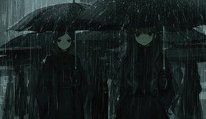 Rating: Safe Score: 43 Tags: aliasing blush cropped dark gloves long_hair monochrome naruwe original rain short_hair umbrella water User: otaku_emmy