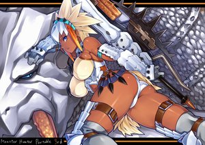 Rating: Questionable Score: 146 Tags: armor ass barioth blue_eyes breasts cleavage monster_hunter real_xxiii weapon white_hair User: opai