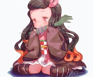 Rating: Safe Score: 29 Tags: black_hair chibi cropped food japanese_clothes kamado_nezuko kimetsu_no_yaiba kimono kneehighs lange loli long_hair pink_eyes signed white User: otaku_emmy