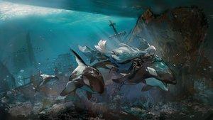 Rating: Safe Score: 55 Tags: animal arknights azalea bubbles fish ruins skadi_(arknights) underwater water User: FormX