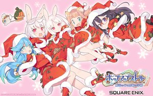 Rating: Safe Score: 49 Tags: animal_ears aqua_eyes aqua_hair black_hair boots brown_hair bunny_ears bunnygirl christmas cosplay dress fang gloves group hat logo long_hair pop-up_story purple_eyes red_eyes santa_costume santa_hat short_hair square_enix watermark white_hair User: luckyluna